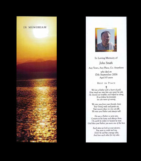 memoriam memorial cards funeral cards rememberance cards
